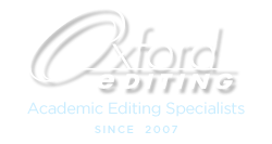 Oxford Editing: Academic Editing Specialists since 2007